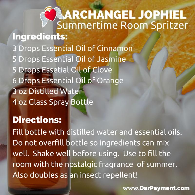 archangel jophiel summertime room spritzer recipe