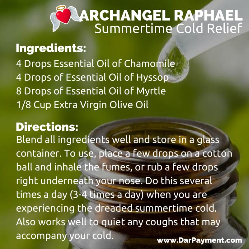 archangel raphael summertime cold relief recipe