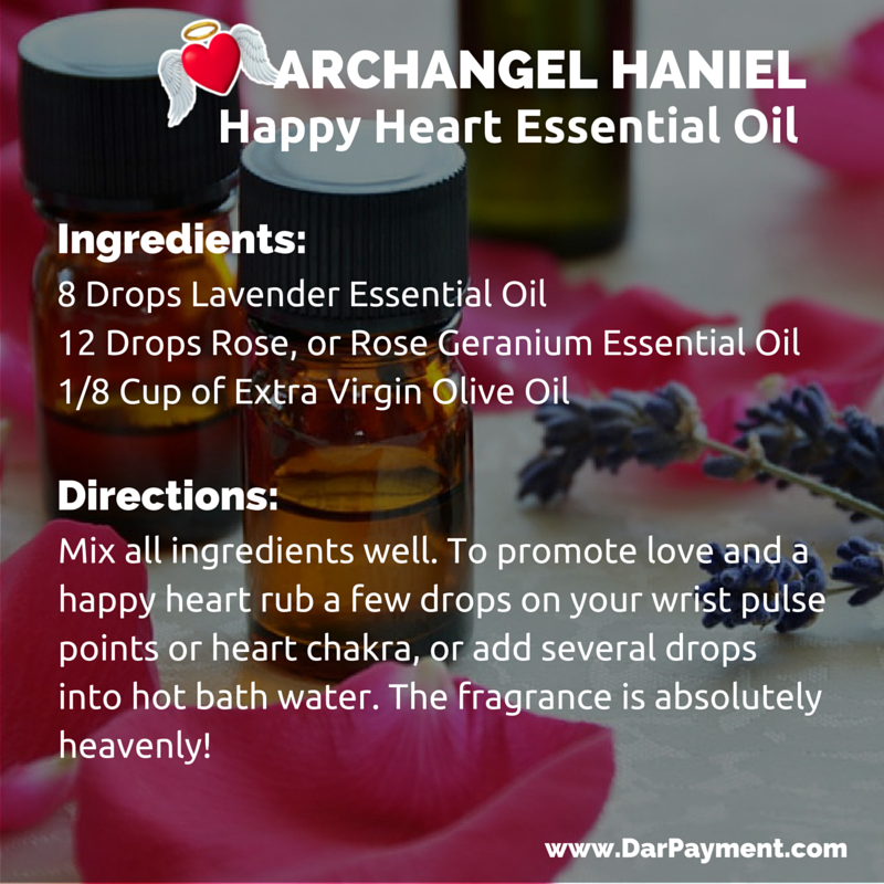 Archangel Haniel Happy Heart Esssential Oil Recipe
