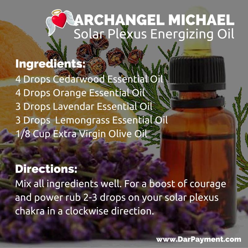 archangel michael solar plexus energizing oil recipe