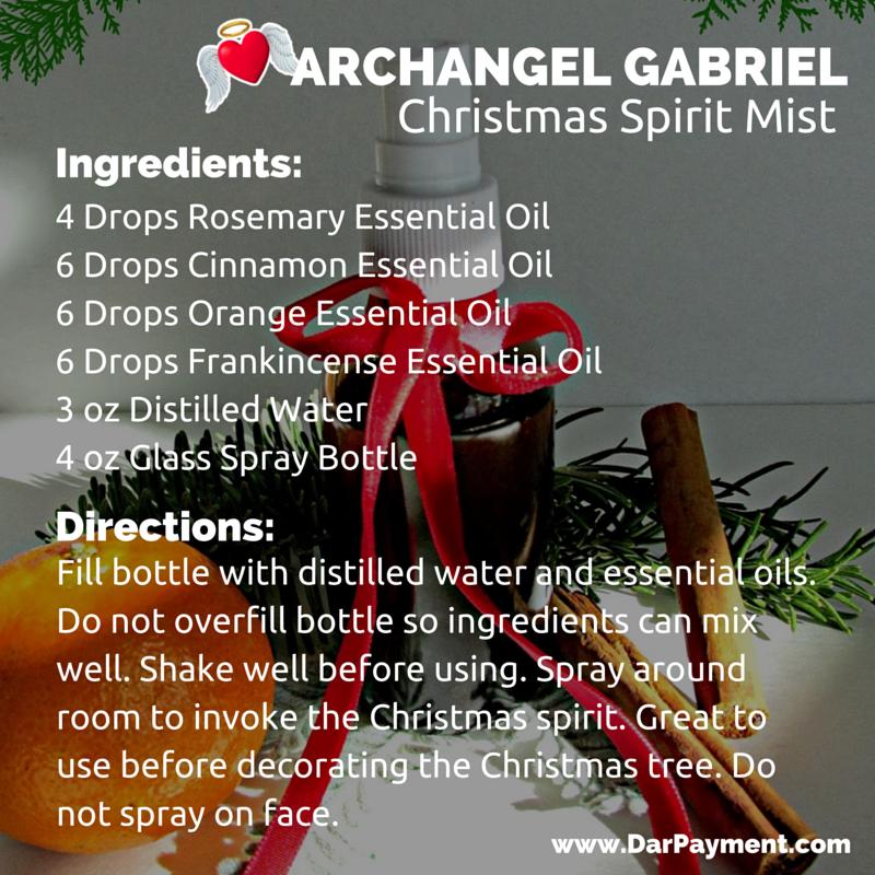 archangel gabriel christmas spirit mist recipe
