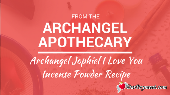 archangel jophiel I love you incense powder